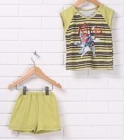 Детский летний костюм,  футболка и шорты,  размеры на 1-5 лет