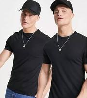 Базовая мужская черная футболка