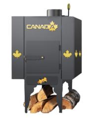 Печь Канада с теплоаккумулятором и защитным кожухом